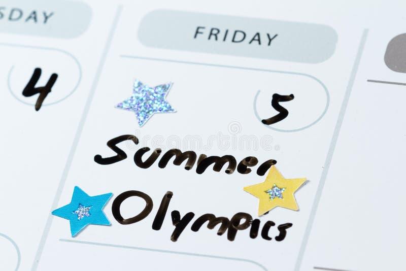 5 de agosto primera jornada de las Olimpiadas de verano imagen de archivo libre de regalías