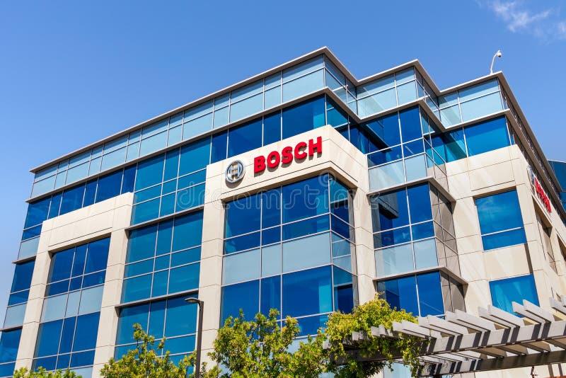 7 de agosto de 2019 Sunnyvale/CA/EUA - a pesquisa de Bosch e o centro de tecnologia America do Norte sediam em Silicon Valley; Ro foto de stock