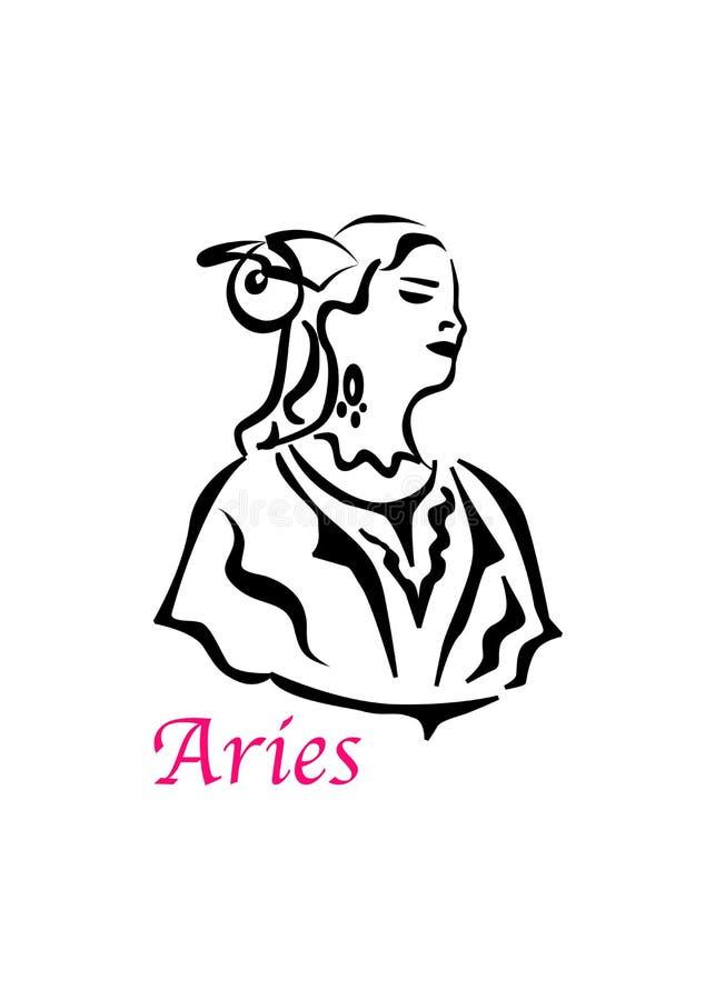 De Aies-vrouw royalty-vrije illustratie