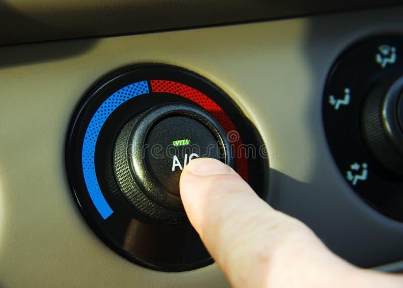 De Airconditioner van de auto stock afbeeldingen