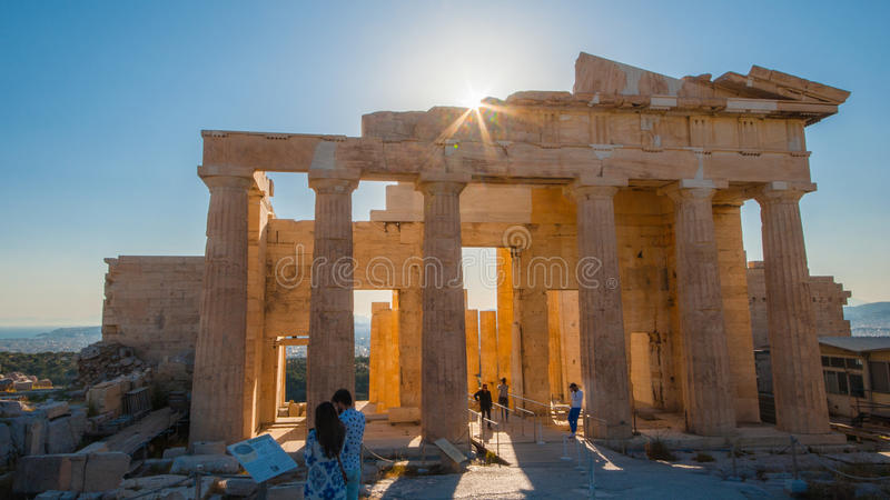 De akropolis, Athene royalty-vrije stock afbeelding