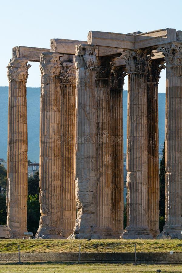 De akropolis, Athene stock afbeelding