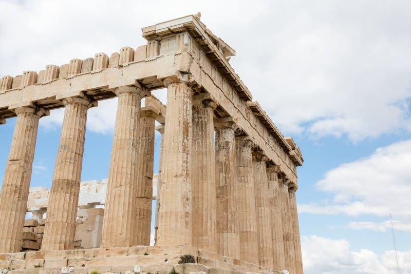 De Akropolis in Athene, Griekenland stock fotografie