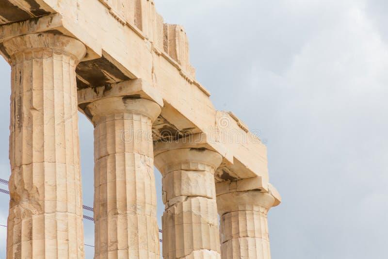 De Akropolis in Athene, Griekenland stock foto's