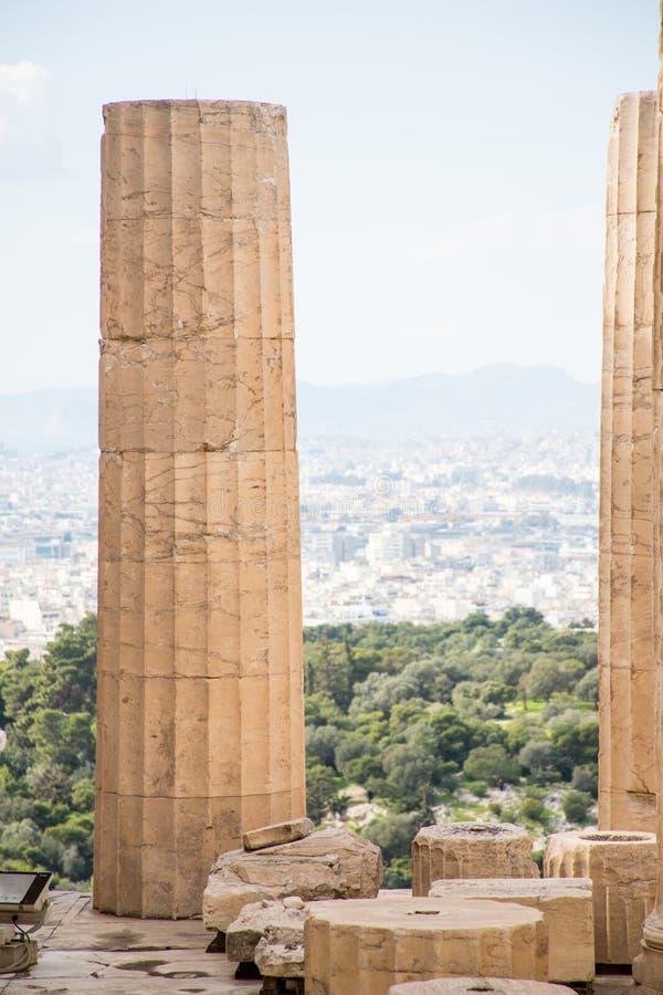 De Akropolis in Athene, Griekenland royalty-vrije stock fotografie