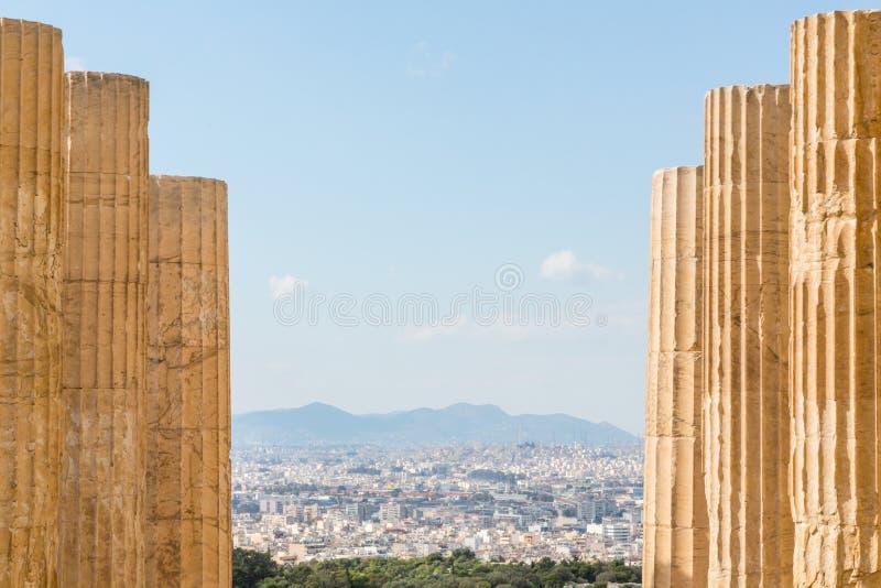 De Akropolis in Athene, Griekenland stock afbeeldingen