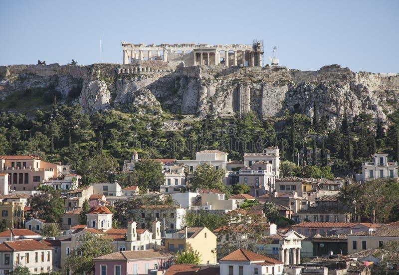 De akropolis van Athene royalty-vrije stock afbeeldingen