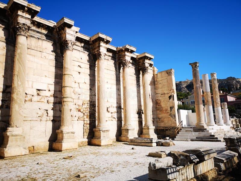 De akropolis van Athene, Griekenland royalty-vrije stock foto's