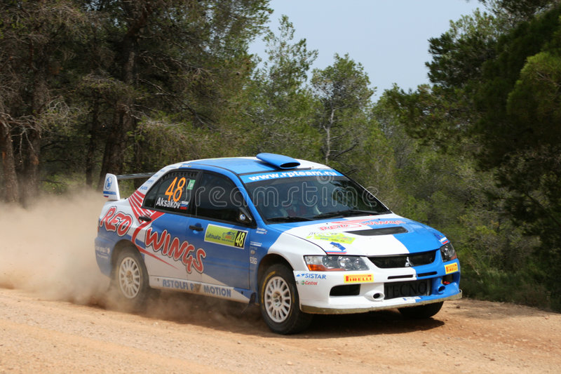 De Akropolis van de Verzameling WRC royalty-vrije stock fotografie