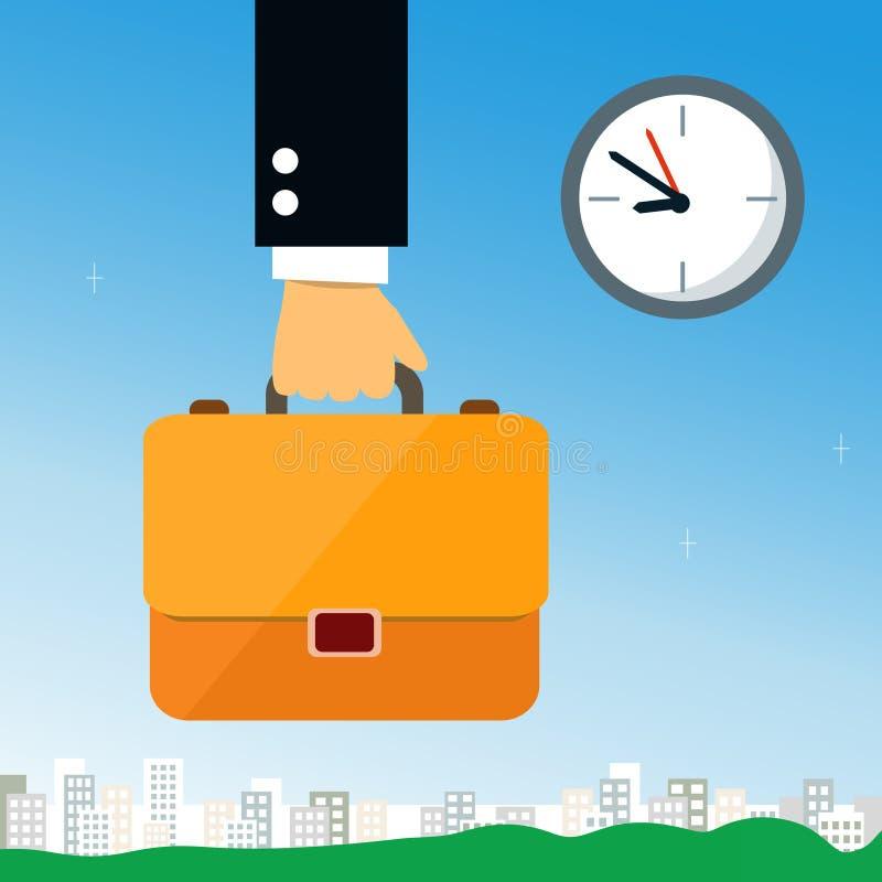 De aktentas van de bedrijfshandholding stock illustratie