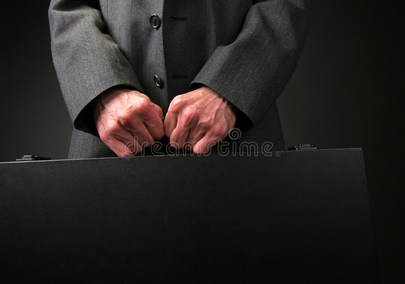 De aktentas van de zakenman stock afbeeldingen