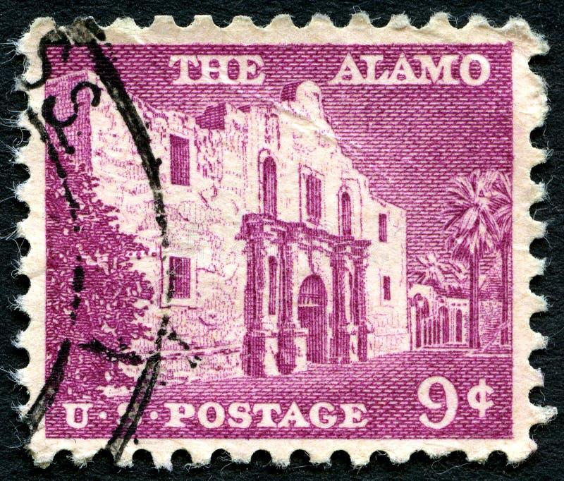 De Alamo de V.S. Postzegel stock fotografie