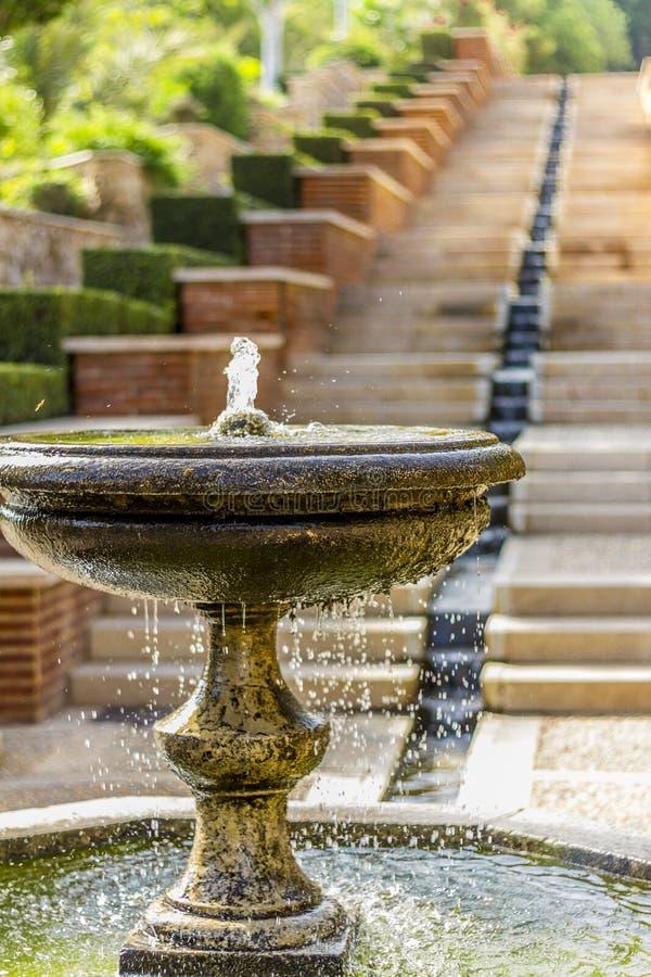 De Alcazaba trädgårdarna fotografering för bildbyråer