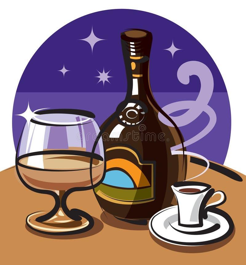 De alcoholische drank van de room vector illustratie