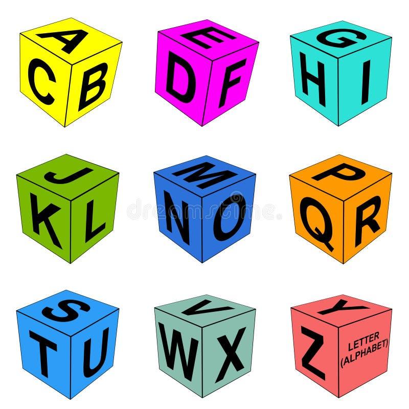 De alfabetbrief dobbelt stock illustratie