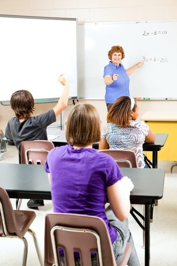 De Algebra van de Middelbare school van het onderwijs royalty-vrije stock afbeeldingen