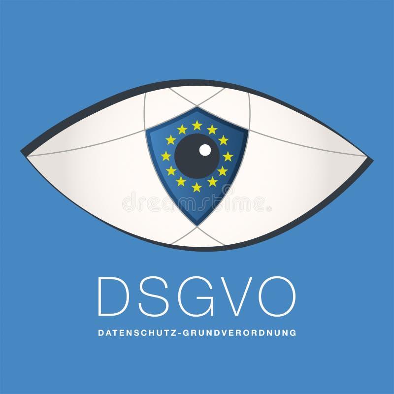 De algemene Gegevensbeschermingverordening door de EU, Duitsland, kan 2018 royalty-vrije illustratie
