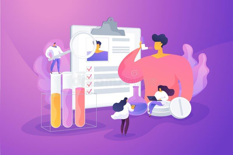 De allergische vectorillustratie van het ziektenconcept stock illustratie