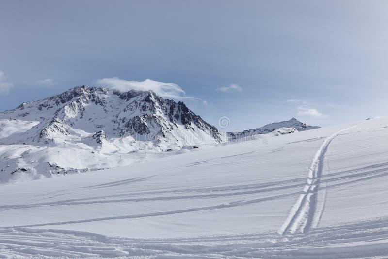 De alpen, Val Thorens stock fotografie
