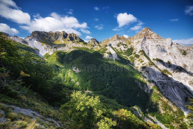 De Alpen van Apuan royalty-vrije stock foto