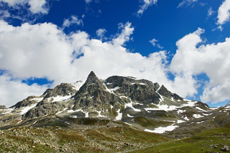 De Alpiene bergen van Europa royalty-vrije stock foto