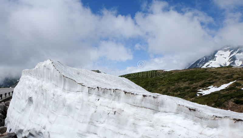 De Alpiene Route van Toyama, Japan - van Tateyama Kurobe royalty-vrije stock foto's