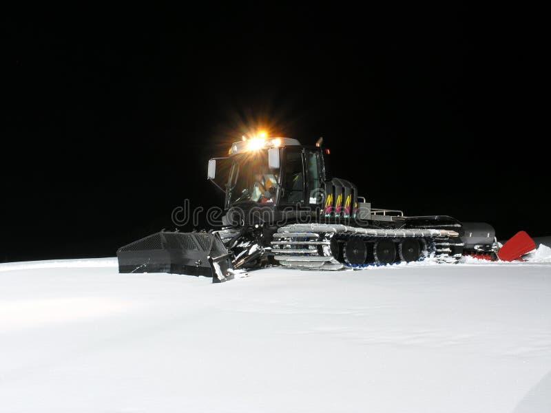 De alpiene scène van de de wintersneeuw stock afbeeldingen