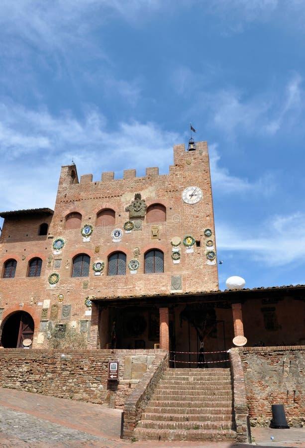 De Alt van Certaldo in Toscanië royalty-vrije stock afbeelding