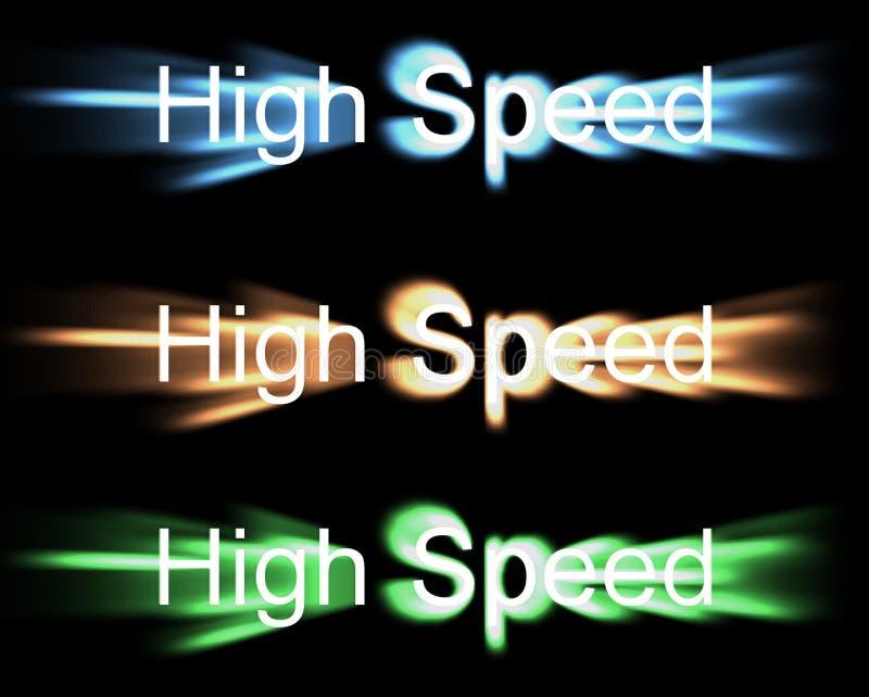 De alta velocidade ilustração royalty free