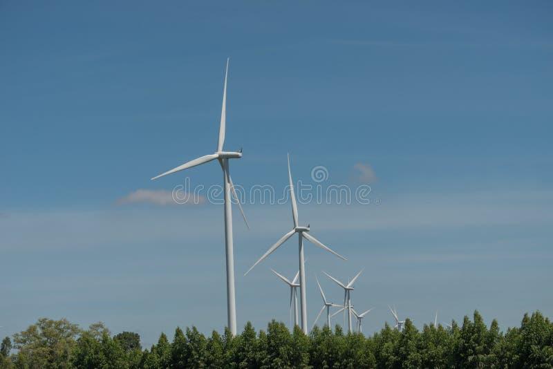 De alternatieve duurzame energie Thailand van de windturbine stock afbeeldingen