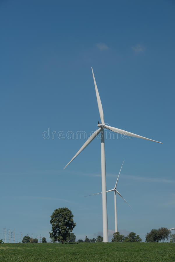De alternatieve duurzame energie Thailand van de windturbine royalty-vrije stock foto
