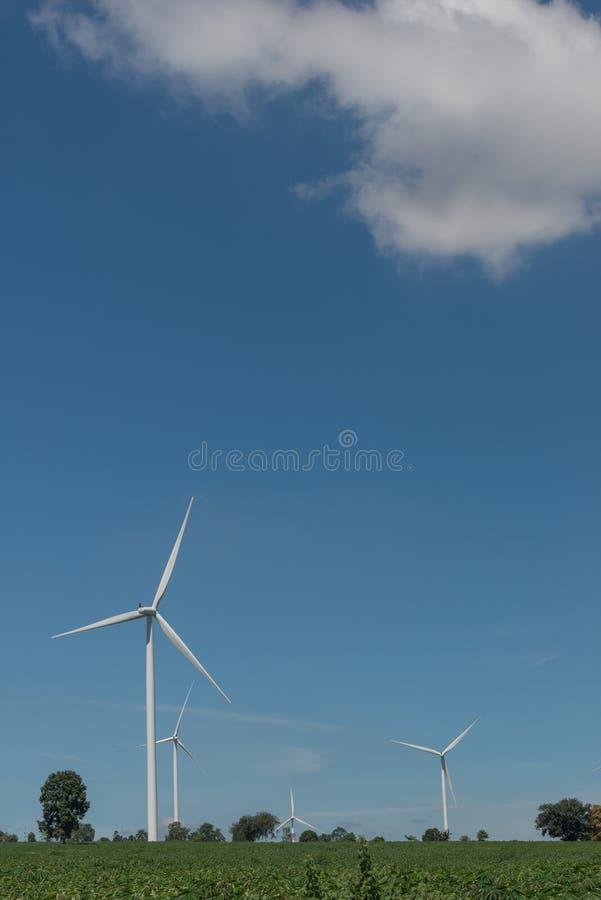 De alternatieve duurzame energie Thailand van de windturbine royalty-vrije stock fotografie