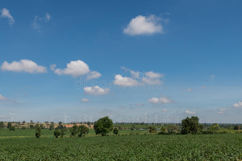 De alternatieve duurzame energie Thailand van de windturbine royalty-vrije stock afbeeldingen
