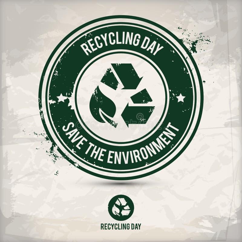 De alternatieve zegel van de recyclingsdag vector illustratie
