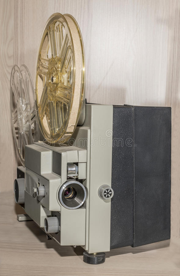 De amateur 8mm filmprojector stock foto