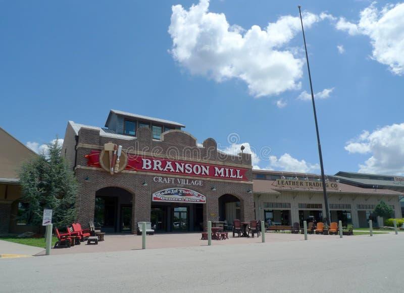 De Ambachtdorp van de Bransonmolen, Branson, Missouri stock afbeeldingen