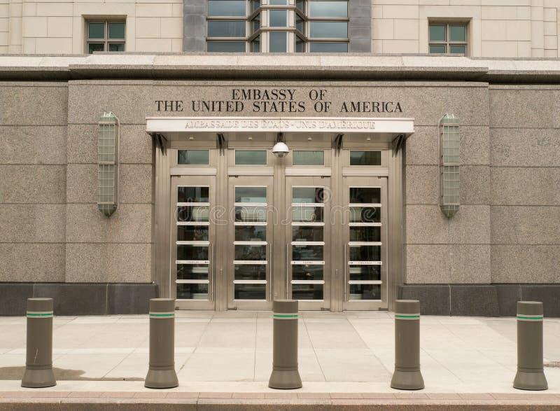 De Ambassade van Verenigde Staten in Ottawa, Ontario, Canada stock afbeelding
