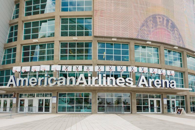 De American Airlines-Arena, huis van de Hitte van Miami stock afbeelding