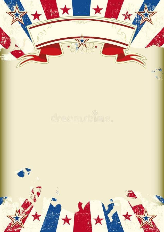 De Amerikaanse affiche van kraftpapier subeams stock illustratie