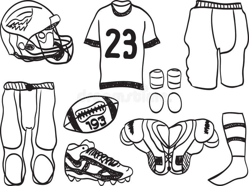 De Amerikaanse Apparatuur van de Voetbal royalty-vrije illustratie