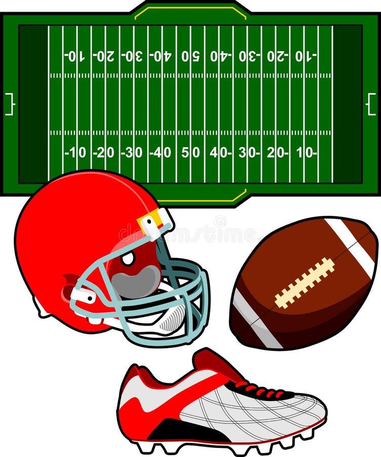 De Amerikaanse Apparatuur van de Voetbal vector illustratie