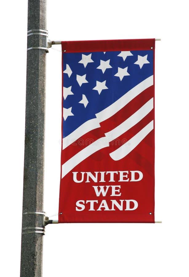 De Amerikaanse Banner van de Vlag royalty-vrije stock foto