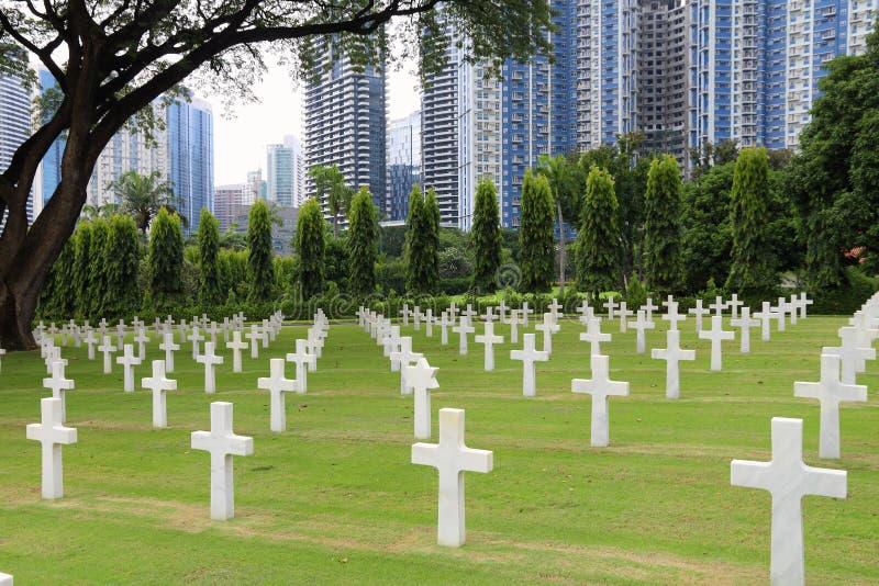 De Amerikaanse Begraafplaats van Manilla stock afbeelding