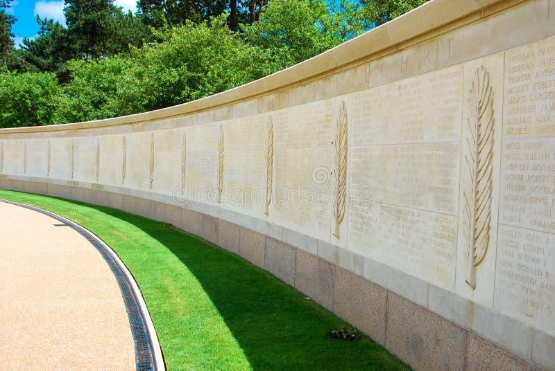 De Amerikaanse begraafplaats van Normandië stock foto