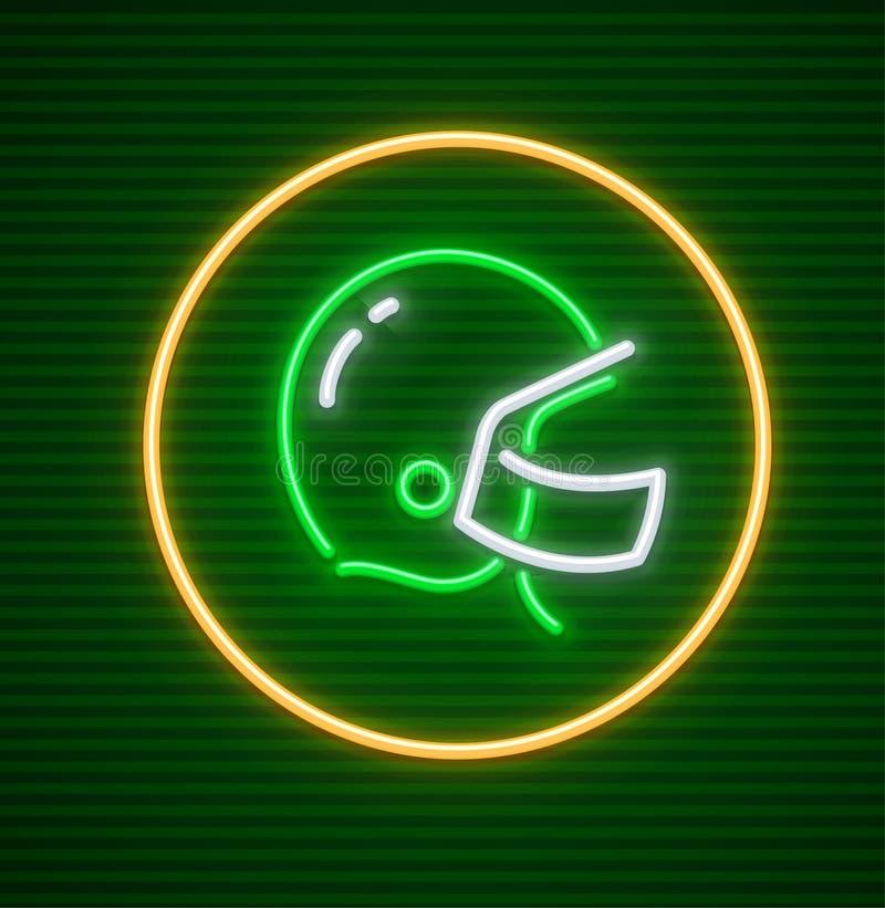 De Amerikaanse beschermende helm van het voetbalspel voor speler stock illustratie