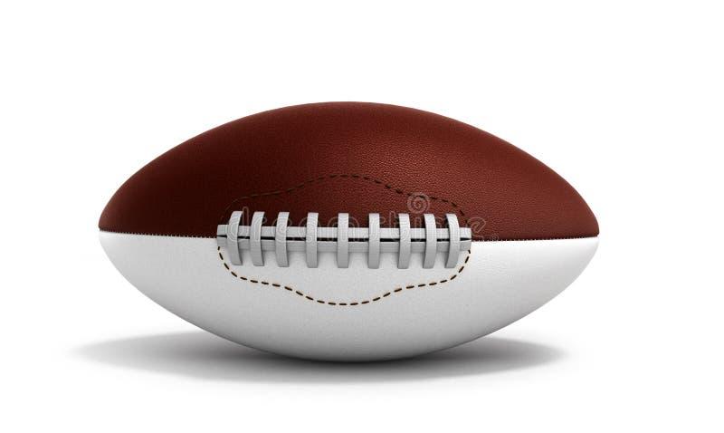 De Amerikaanse 3d voetbalbal geeft op witte achtergrond geïsoleerd terug stock illustratie