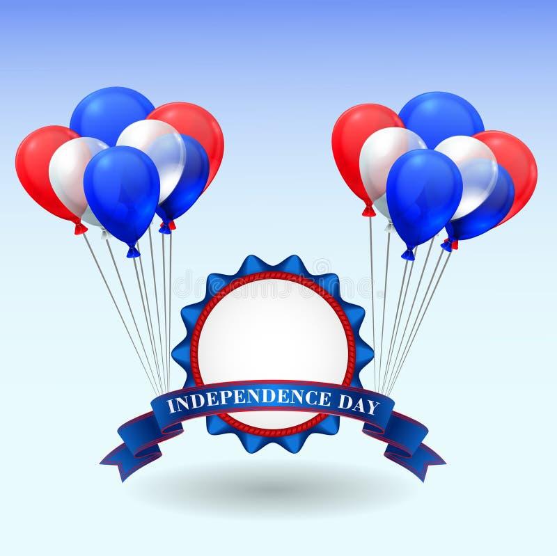 De Amerikaanse Dag van de Onafhankelijkheid stock illustratie
