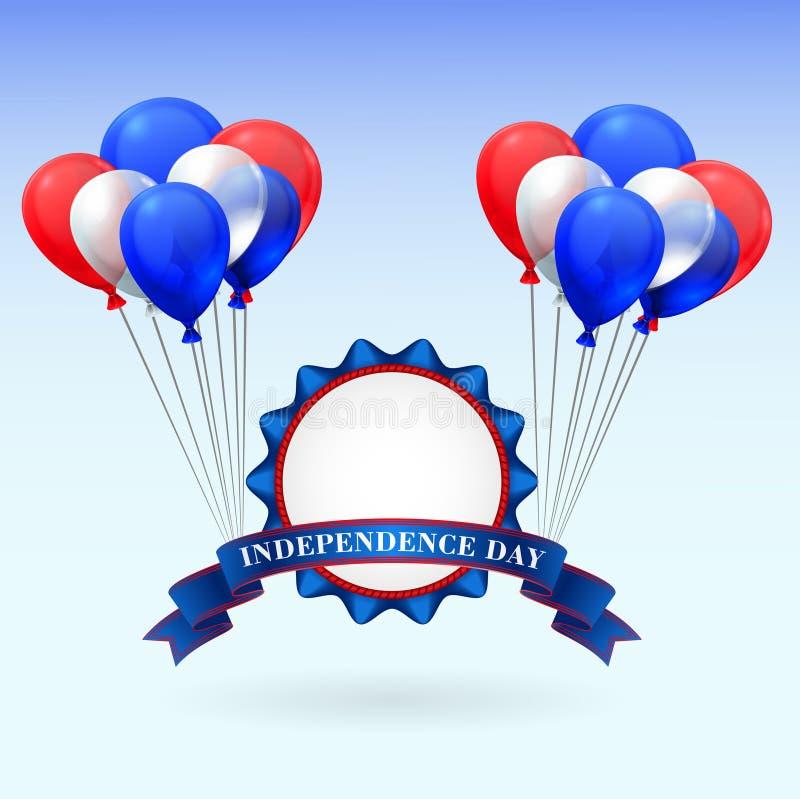 De Amerikaanse Dag van de Onafhankelijkheid vector illustratie