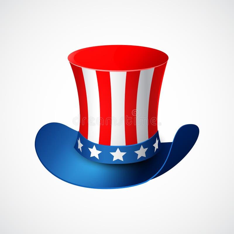 De Amerikaanse Dag van de Onafhankelijkheid Vakantiehoed royalty-vrije illustratie