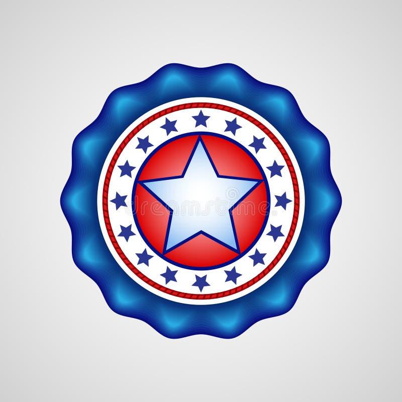 De Amerikaanse Dag van de Onafhankelijkheid Vakantiekenteken royalty-vrije illustratie